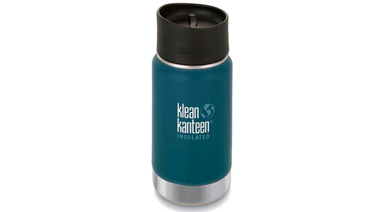 06a8fd5a klean kanteen insulated wide café bootle 12oz 355 ml matte finish neptune  blue gode.